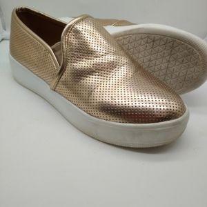 Steve Madden Gracy Gold Sneakers Women's 7